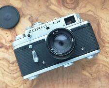 ZORKI 4K 35mm Jupiter 8 2/50 camera with original booklet/carry case and strap