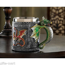 medieval dragon thrones queen mug stainless steel cup statue cosplay game master