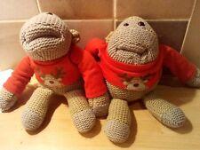 2 x PG Tips Tea Chimps Monkey Christmas Red Jumper Beanie Soft Plush Toy xmas UA