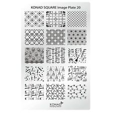 Konad Stamping Nail Art Square Image Plate 20 Christmas and New Year Designs