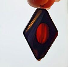 Collana girocollo  con agata nera e rossa e gancio argento 925