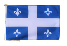More details for quebec canada flag with rope and toggle - various sizes