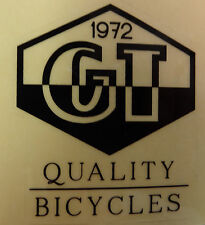 GT Bike Decal Sticker Quality Bicycles Since 1972 BMX Park Street Racing Bicycle