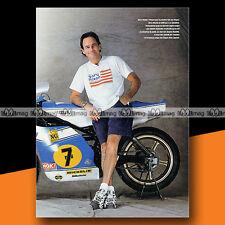★ BARRY SHEENE et sa SUZUKI ★ 2001 Mini Poster Pilote Moto / Photo #MP52
