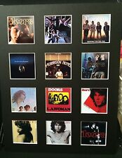 "THE DOORS 14"" BY 11"" LP COVERS PICTURE MOUNTED READY TO FRAME"