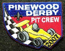 "BSA mint 2007 Dated ""Pinewood Derby Pit Crew"" Cub Scout Pack unit event patch"