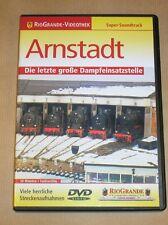 RARE DVD DOC TRAIN EN ALLEMAND / ARNSTADT / DIE LETZTE GROBE DAMPFEINSATZSTELLE