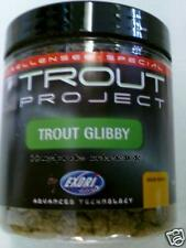 (6,66€/100g) NEU Trout Project Pulverlockstoff Glibby DARK Lockstoff