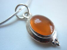 New Amber 925 Sterling Silver Necklace India