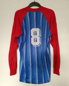 Altes Fussballtrikot, Nr. 8, Blau / Rot, Erima, Größe L, Herren, Vintage