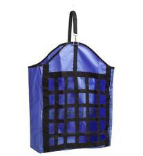 Webbed nylon slow feed hay bag Royal Blue