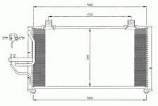 Klimakühler Kondensator Klimaanlage Kia Shuma 1997-2001