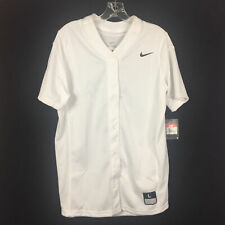 Nike Vapor Full Button Softball Game Practice Jersey Women's Large White 630600