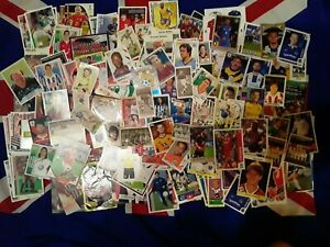 LOT 150+ FOOTBALL CARDS STICKERS PANINI TOPPS MERLIN UPPER DECK WORLD CUP
