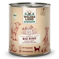 Wildes Land | Rind mit Kartoffeln BIO | 6 x 800 g | Nassfutter | Hundefutter