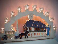 2D Arc Arc lumineux 66 x 41 cm 15 LUMIÈRES postsäule avec Wirtshaus 10708