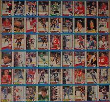 1989-90 OPC O-Pee-Chee Partial UNCUT Sheet Panel 54 Cards Mario Lemieux NM B1