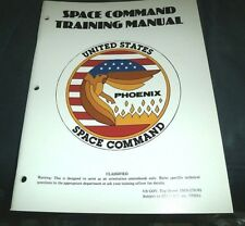 """SPACE COMMAND TRAINING MANUAL NASA """"YEAR OF THE PHOENIX """" 1986 RPG GAME"""