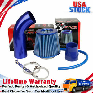 """Cold Air Intake CAI Assembly Filter Blue Pipe Diameter 3"""" + Clamp + Accessories"""