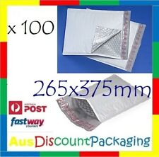 Heavy Duty Plastic Padded Bag 265x375mm Poly Lined Bubble Cushion Mailer 100pcs