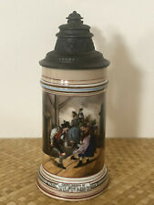 "Antique Martin Pauson Beer Stein ""Compliments of Franz Mayer"" Ny Advertising"