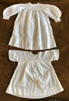 Vintage Set of 2 Child Gown Dress Cotton Lace Nightgown