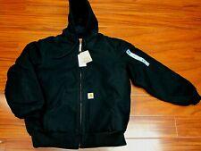 Carhartt Men's Weathered Duck Detroit Jacket J001 Black Medium
