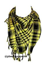 **** PROMOTION **** KEFFIEH JAUNE ET NOIR écharpe foulard palestinien cheche ...