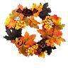 Halloween Maple Leaf Wreath Autumn Wreath Pumpkin Wreath with Light Home Decor