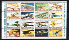 Avions Guinée Equatoriale (51) série complète de 16 timbres oblitérés