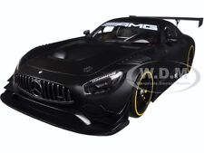 MERCEDES AMG GT3 PLAIN COLOR VERSION MATT BLACK 1/18 MODEL CAR BY AUTOART 81532