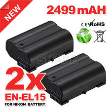 2x for Nikon EN-EL15 Battery For Nikon D7000 D7100 D750 D600 D800 D800E V1 Camer