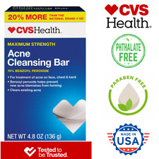 Acne Cleansing Soap Bar with 10% Benzoyl Peroxide - 20% More