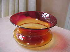 Libbey amberina flared edge bowl Great color