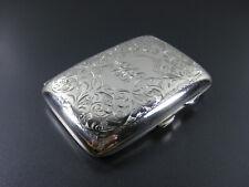 Antikes Zigarettenetui, England 1918, Joseph Gloster Ltd., 925er Silber!