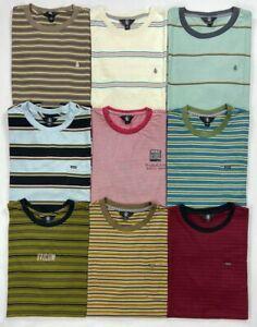 Men's Volcom Crew Striped Cotton T-Shirt