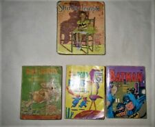 VINTAGE Lot of 4 Books WHITMAN BIG LITTLE BOOK BATMAN ROAD RUNNER Shirley Temple