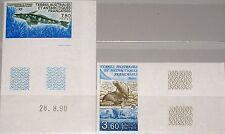 Taaf fsat 1991 Maury 162-3 274-75 u animales d Antártida sea lions fish pescado mnh 2