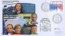 """PE672 FDC Parlement européen """"Sommet Paix en Ukraine - M. POROCHENKO"""" 02-2015"""