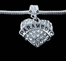 Paramedic charm fits European style bracelet EMT Paramedic jewelry charm only