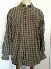 Abercrombie & Fitch AF Men's Plaid Button Front Shirt Green-yellow-red Large Gxz