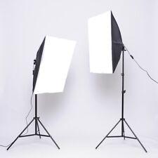 Profi 2X 135W Studioleuchte Set Softbox Set Fotolampe Fotoleuchte+ Stativ DHL