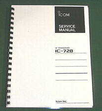 """Icom IC-728 Service Manual: 11"""" X 32"""" Foldout Schematics & Protective Covers!"""