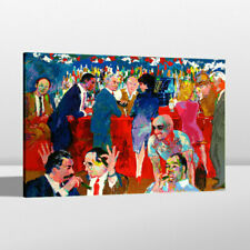 Canvas Art Print Painting LeRoy Neiman Thursday Night At Rao's Home Decor 24x32