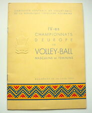 1955 EUROPEAN VOLLEYBALL Championships Official PROGRAM Programme Romania