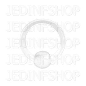 Retainer Hider - BCR Hoop Ball Closure Ring CBR | 2.0mm (12g) - 12mm | BioFlex