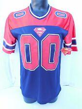 DC COMICS SUPERMAN Football Jersey #41 MEDIUM POLYESTER CASUAL
