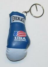 Everlast BOXING Glove Blue White KEY CHAIN Ring Keychain NEW