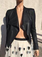 $895 HELMUT Helmut Lang Washed Leather Cropped Jacket P/XS