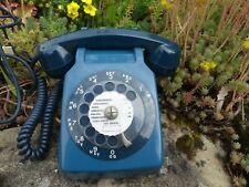 TELEPHONE vintage modèle SOCOTEL 63 bleu canard à CADRAN DE 1981 en bon état